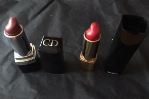 rouges Dior et Chanel