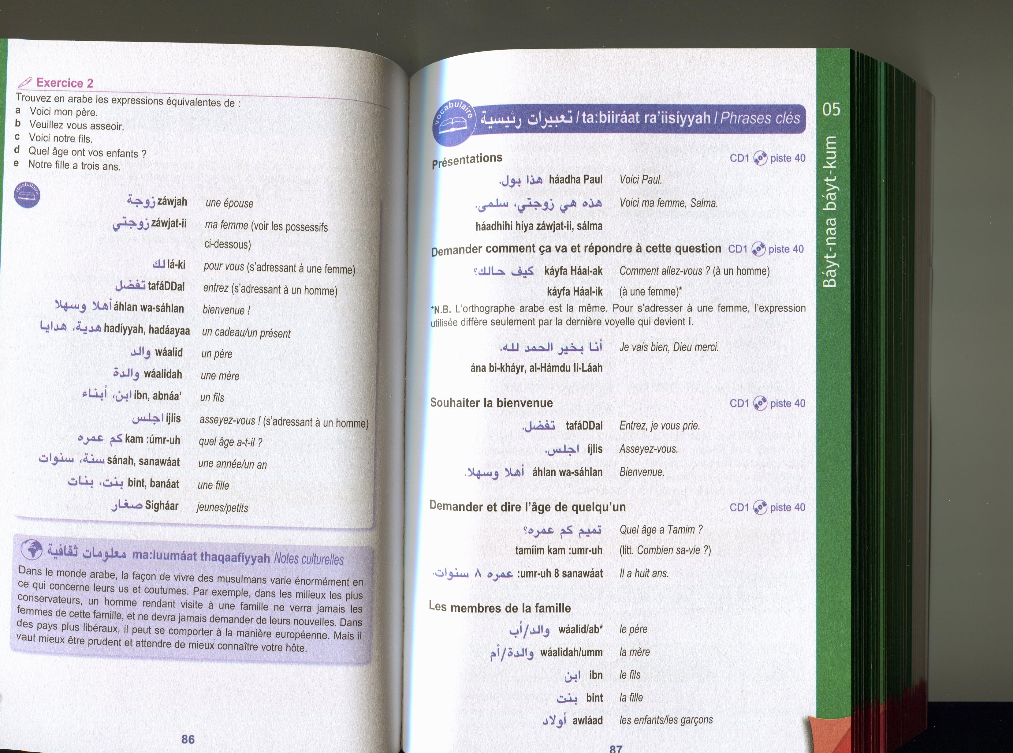 Mes cours de langue arabedomi le