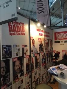 Le stand de la lettre pro de la Radio