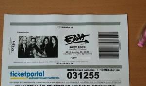 Edda billet du concert
