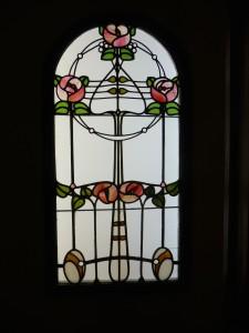 roses anglaises, vitrail Roth