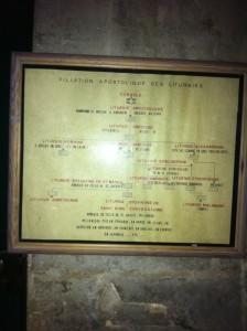 Tableau des liturgies à Saint-Julien-Le-Pauvre
