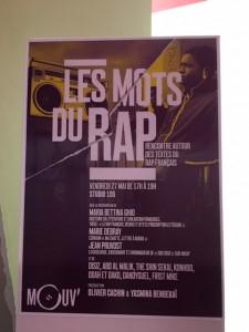 Affiche Mouv' Les mots du Rap