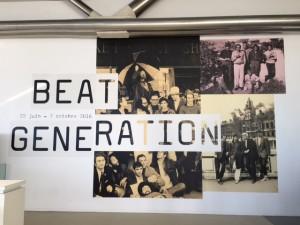 Entrée de l'expo Beat Generation