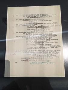 Manuscrit de Howl d'Allen Ginsberg