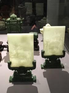 plaques de jade gravées