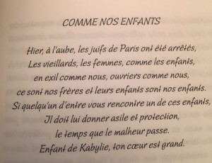 Tract Vél' d'Hiv' français