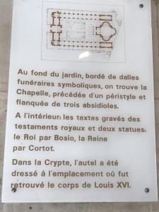 Plan chapelle expiatoire
